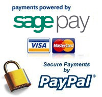 Secured payments via WorldPay and PayPal